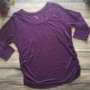 Lane Bryant Ruched Side long sleeve top 14/16